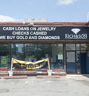 Jeweler and Pawnshop on Route 22 West in Union, NJ